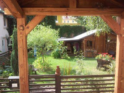 Blick Eingangsbereich zum Garten