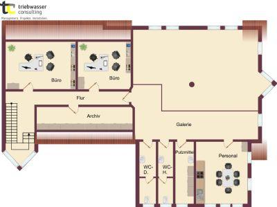 Gestaltungsidee Obergeschoss