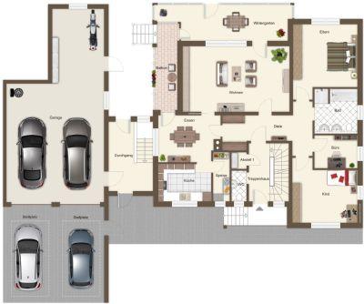 Grundriss Wohnhaus EG