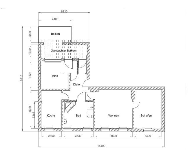 3 Zimmer, Küche Bad, ca. 90 m², riesige Dachterrasse in der ...