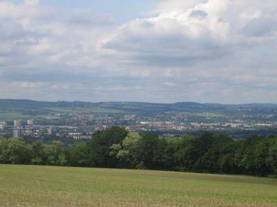 Eines der letzten Traumhaften Grundstücke, Baugrundstück mit Blick über Dresden bis Böhmen