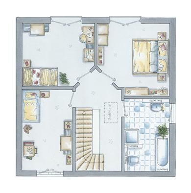 Grundriss Dachgeschoss New Lin