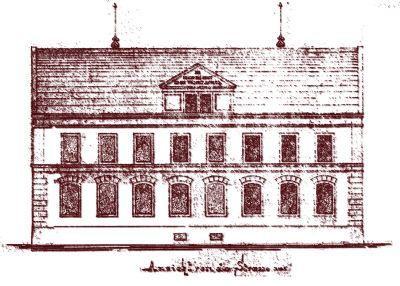 Original Planung Straßenfassade