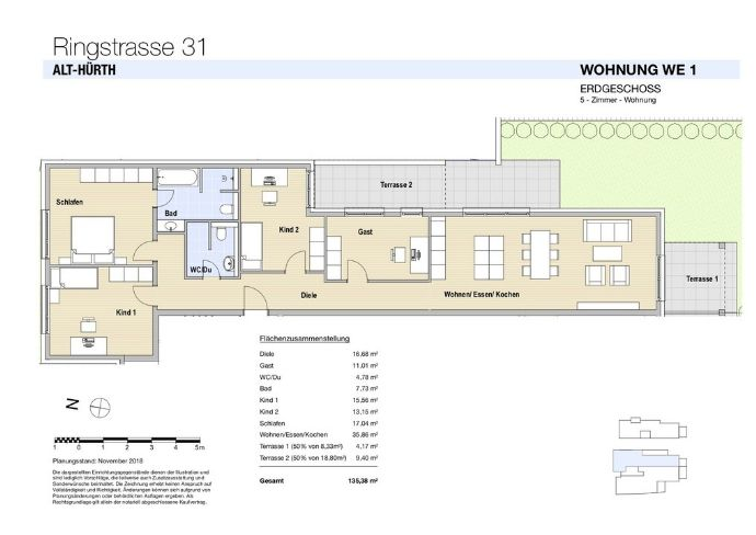 WE 1 Modernes Wohnen mit viel Platz in Hürth!