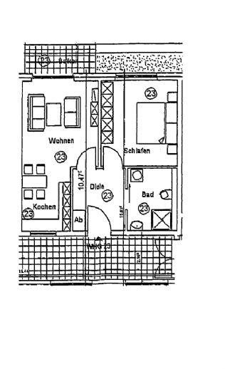 Wohnen in der Villa Laurenz - Kleine Seniorenwohnung mit Süd Balkon!