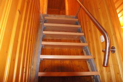 Treppe in das Obergeschoss