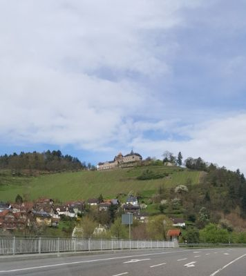 Blick auf Schloß Eberstein