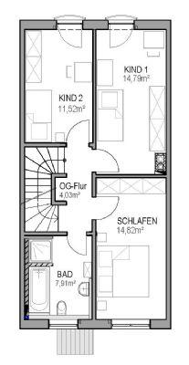 Alternativ: OG mit 3 Zimmern