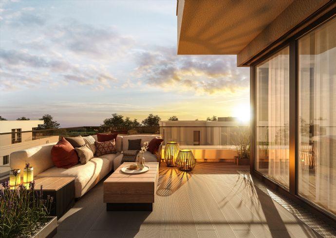 2-Zimmer-Penthauswohnung mit Ausblick über die Fürther Regnitzauen