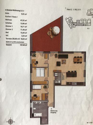 helle 4-Zimmer-Wohnung in Weißenhorn, zentral