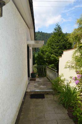 Eingangsbereich mit dahinterliegendem Garten