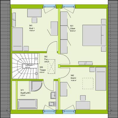 Grundrissvorschlag Dachgechoss
