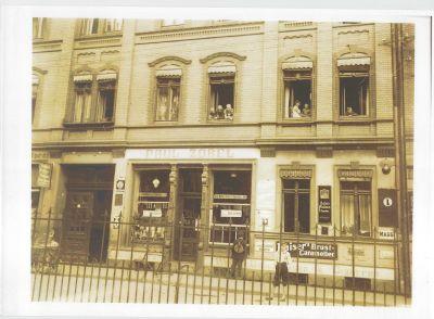 Historische Aufnahme der Fassade