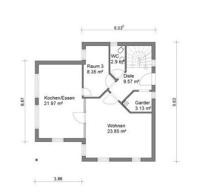 Erdgeschoss große Küche geschlossen