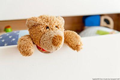 Teddy zieht auch ein
