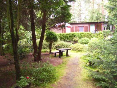 Zugang zum Holzhaus