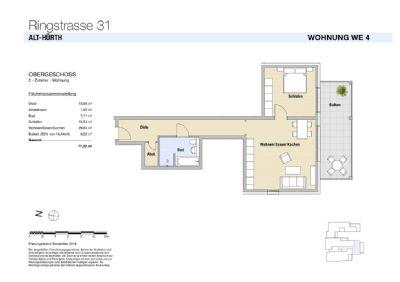 WE 4 Modernes Wohnen mit Sonnenbalkon in Alt-Hürth!