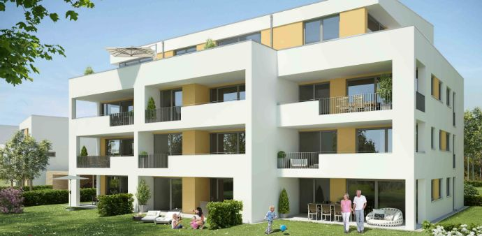 Neubau-3-Zimmer-Wohnung im Erstbezug mit sehr