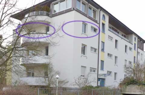 2-Zi.-Wohnung, 70.95m², renoviert, funktioneller Grundriss, 2 Balkone SO + SW, Sonne von früh bis abends, frei ab 15.02.