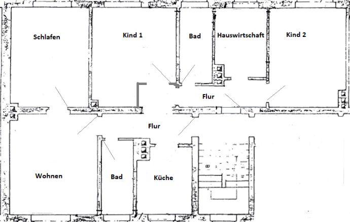 Sanierte 4-5 Raumwohnung in Profen