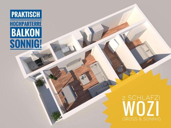3Zi-Wg 61m2, Balkon, Bj.1972, zentral in Seckbach - VORANKÜNDIGUNG