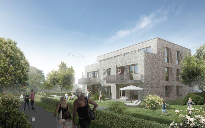 NEUBAU/Erstbezug: barrierearme Single-Wohnung mit Süd-Terrasse und elektr. Fensterrollläden, Aufzug und Tiefgarage, EBK, Designbodenbelag uvm.