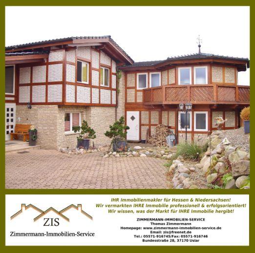 Traumhaus! Exklusive Villa (2001) in Delligsen (OT) Luxus Pur: Offenes Wohnen auf 500 m² & Gewerbe - 7500 m² Grundstück mit Pool/3 Bäder/Terrasse