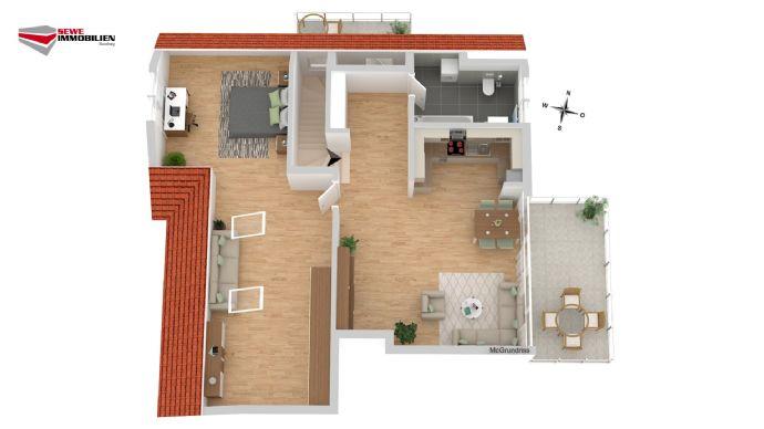 Eigene Dachterrasse + Balkon!! Modern Wohnen in historischem Gebäude. Liebevoll saniert.