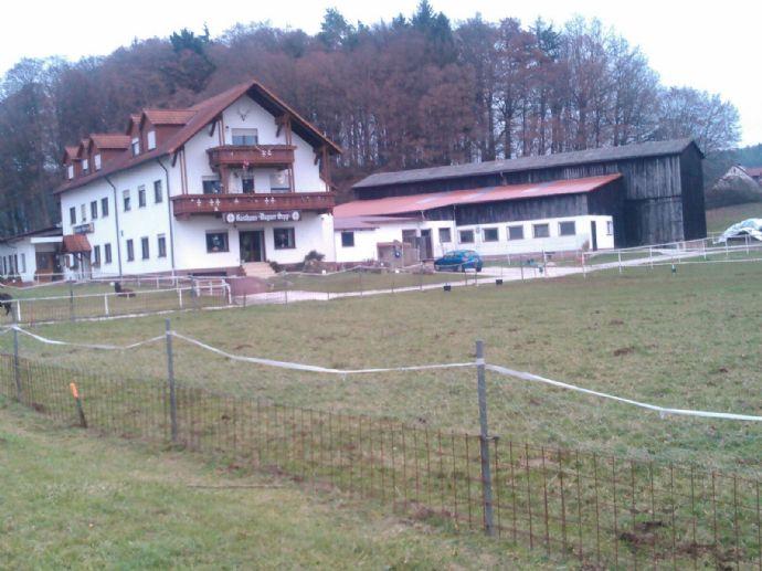 Landgasthof und Disco mit landw. Nebengebäuden