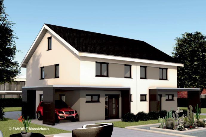 Moderne Doppelhaushälfte mit attraktivem Grundstück