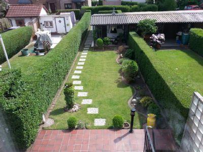 Blick auf den Garten vom OG aus