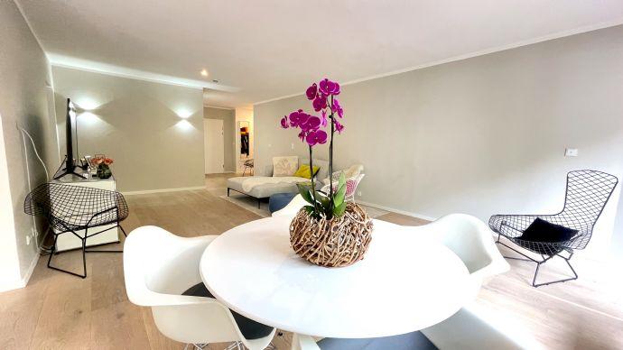 Exklusiv renovierte 4-Zimmer Terrassen-Gartenwohnung im