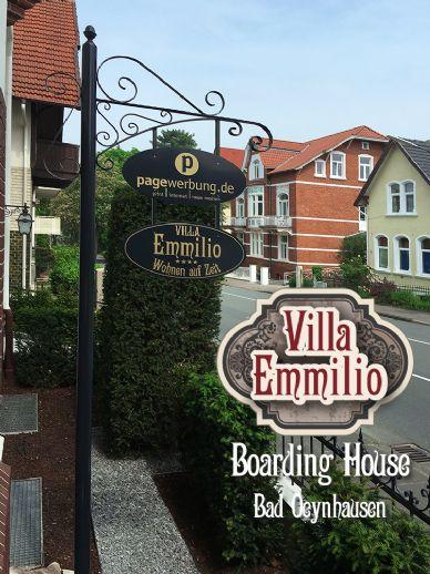 ::: 5 Sterne Wohnen auf Zeit/Ferienwohnungen in der Villa Emmilio : Möbelierte Luxus-Wohnung im Denkmal ::: Boarding House :::: Innenstadt Bad Oeynha
