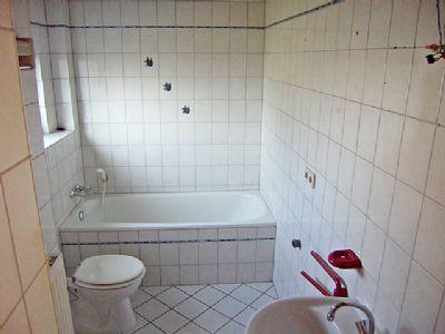 Waschmaschinenanschluß im Bad