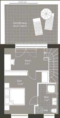 Grundriss Dachgeschoss Alternativ