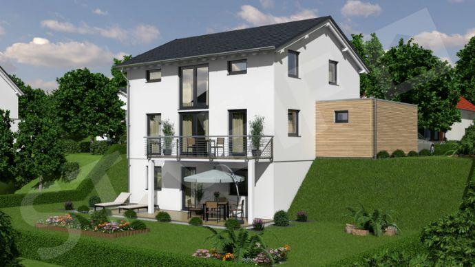 Modernes Einfamilienhaus als Effizienzhaus 40 mit exklusivem Grundstück