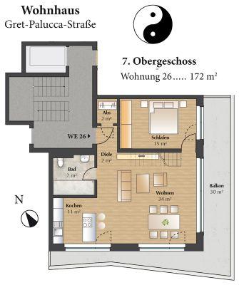 Grundriss Wohnung 26 - 7.OG