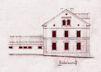 Original Planung Giebelseite