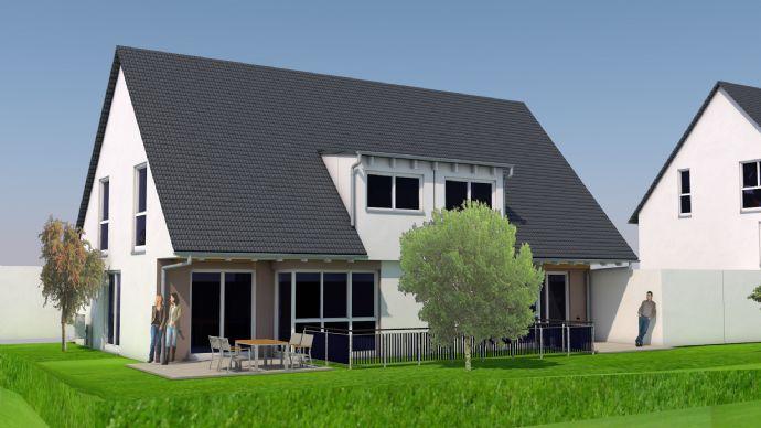 Neubau: DHH mit 5-Zimmern, Garage und herrlicher Süd-West-Ausrichtung
