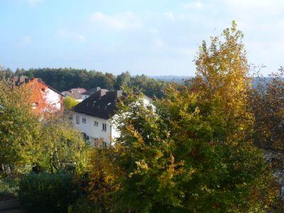 Blick aus den Fenstern im Dachstudio