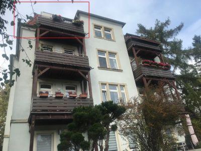 Zweiraumwohnung in sanierter Stadtvilla, Dresden-Bühlau ,Blick zum Fernsehturm