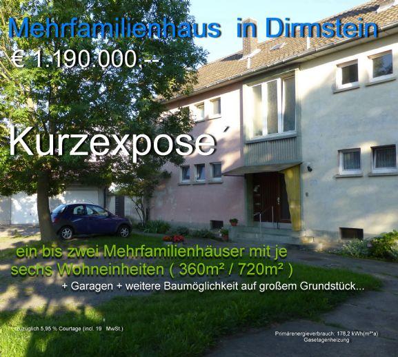 12 Wohnungen in 2 Doppelhäuser auf großem Grundstück + Neubaumöglichkeit ?