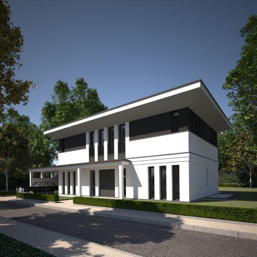Extravagantes Design - Architektur mit Ausstrahlung - moderne Stadtvilla im Bauhausstil in Heiligensee