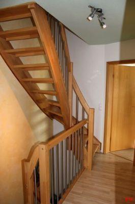 Treppe zu Dachraum