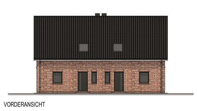 Neubau-Doppelhaushälften in Planung
