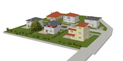 Baugebiet aus Sicht der Zufahrt