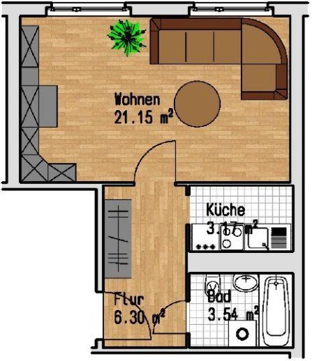 1-Raum Wohnung in Lößnig am Silbersee