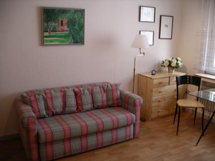 Schön möbliertes Einraum-Apartment mit Diele und Bad, 24 qm, 1.OG; gute Verkehrsanbindung