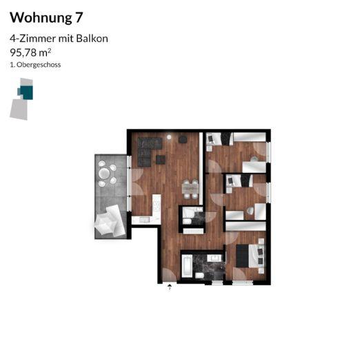 Sie suchen Ihren Wohntraum? Neubauwohnung in Fürth - 3 Zimmer mit schönem Balkon