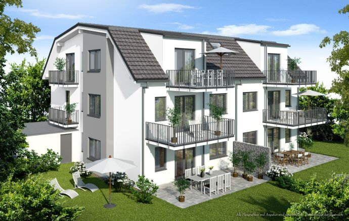 Rohbau fertiggestellt: 3-Zimmer-Dachgeschosswohnung mit zwei Balkonen - KfW 55